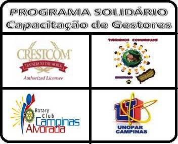 Parceria: CRESTCOM, TCEES, ROTARY CLUB CAMPINAS ALVORADA E UNOPAR CAMPINAS